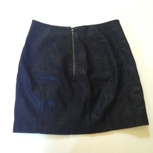 Free People Skirts - FREE PEOPLE Black Leather Mini Skirt Excellent Con